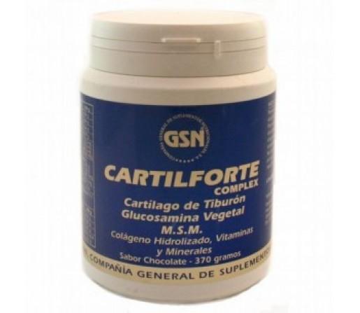 Cartilforte Complex Cartílago, Colágeno, Glucosamina y MSM Limon 370gr. GSN