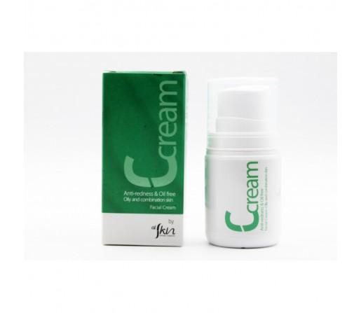 Crema Facial Ccream Piel Grasa y Mista, Ecológica de Chlorella vulgaris, Antirojeces 50ml. ALSKIN