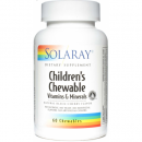 Children's Chewable (vitaminas,min masticables para niños) 60 comprimidos SOLARAY