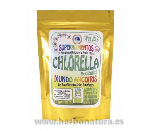Chlorella Polvo Ecológica 125gr. mundo arcoiris SUPERALIMENTOS