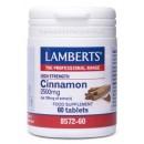 Cinnamon Canela. Regular Glucosa y Digestivo 60 comprimidos LAMBERTS en Herbonatura.es