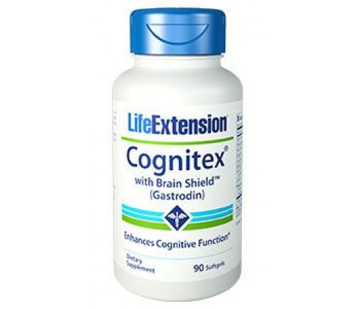 Cognitex Brain Shield (Gastrodin), Fosfatidilserina, Fosfatidilcolina... 90 perlas LIFEEXTENSION