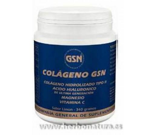 Colágeno, Acido Hialurónico de Ultima Generación, Magnesio y Vitamina C Limón 340gr. GSN