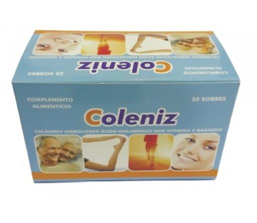 Coleniz Colágeno Peptan, Magnesio, MSM, Acido Hialurónico.. 20 sobres LIDER BIENSTAR