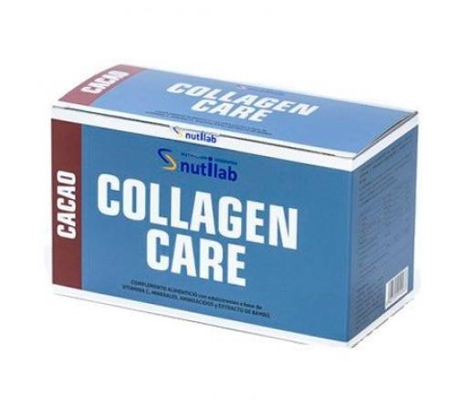 Collagen Care Cacao con Estevia, glicina, lisina, arginina... 30 sobres NUTILAB