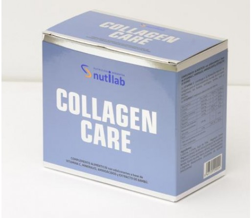Collagen Care con Estevia, glicina, lisina, arginina... 30 sobres NUTILAB