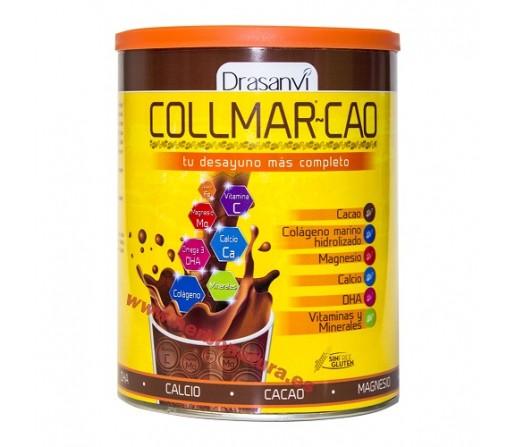 Collmar Cao Desayuno con Calcio, Colageno, Cacao, Minerales, DHA... 300gr. DRASANVI