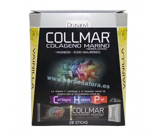 Collmar Sticks, Colágeno, magnesio, ácido hialurónico Sabor Vainilla 20 sticks DRASANVI