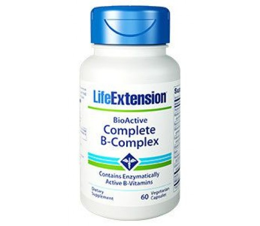 Complete B-Complex Bioactivo Vitaminas 60 cápsulas LIFEEXTENSION