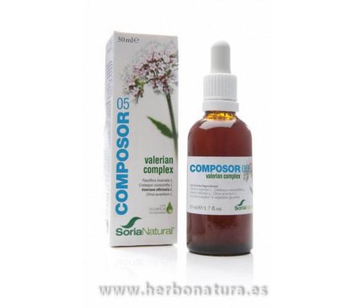 Composor 5 Valerian Complex 50ml. SORIA NATURAL