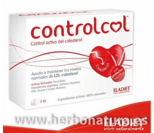 Controlcol arroz rojo fermentado, Q10, cromo, cardo mariano 60 comprimidos ELADIET