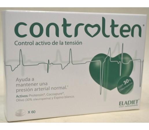 Controlten Tensión Olivo, cocoapure, Espino blanco, Protensin 60 comprimidos ELADIET