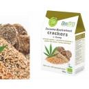 Crackers Raw Sésamo, Sarraceno Germinados, lino y cañamo Biológicos 100gr. BIOTONA