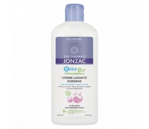Crema Limpiadora Rehidratante Ecológica, curepo y cabello Bebe 250ml. JONZAC