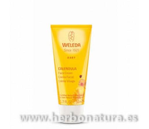 Crema Facial Calendula de Bebe Hidrata y Protege 50ml. WELEDA