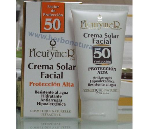 Crema Solar Facial hipoalergénica SPF 50+ tubo 80ml. FLEURYMER