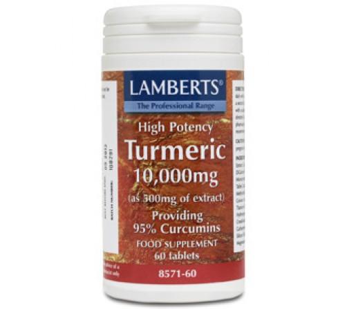 Cúrcuma 10000mg. 95% Curcumina Turmeric 60 comprimidos LAMBERTS