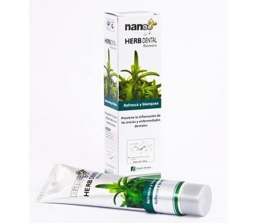 Dentífrico pasta herb dental Romero con Nano Plata 160gr. IRISANA