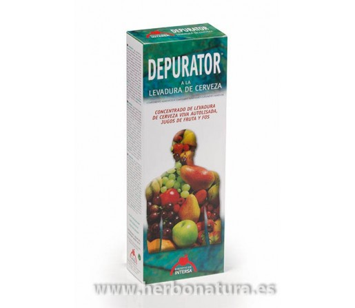 Depurator Jarabe depurativo con levadura Lactobífidofermentada 250ml. INTERSA