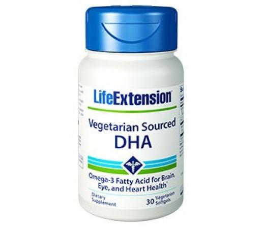 DHA Vegetariano 200mg. del alga Schizochytrium sp. 30 perlas LIFEEXTENSION