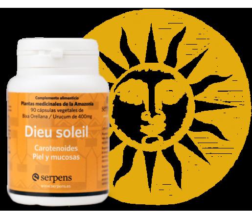 Dieu Soleil (Bixa Orellana y Urucum) Carotenoides, Piel y mucosas 90 cápsulas SERPENS