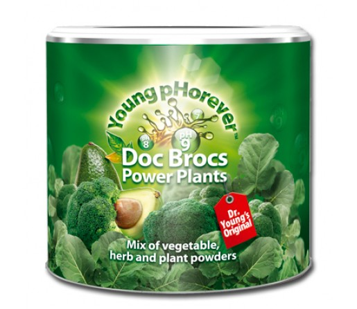 Doc Brocs Power Plants Alcalinizante Superalimento Verde 220gr. YOUNG PHOREVER