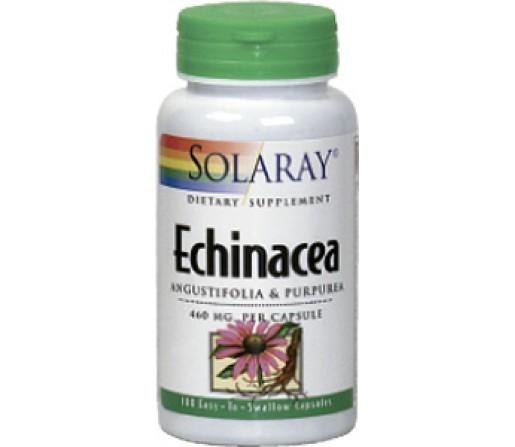Echinacea Equinacea Angustifolia y Purpurea 100 cápsulas SOLARAY