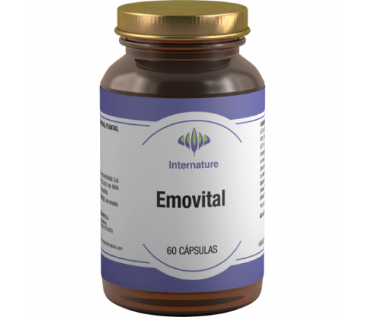 Emovital, Hierro Bisglicinato, Vitamina B, Cisteina... 60 cápsulas INTERNATURE