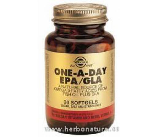 EPA / GLA Omega 3 Una al Día 30 Cápsulas blandas SOLGAR