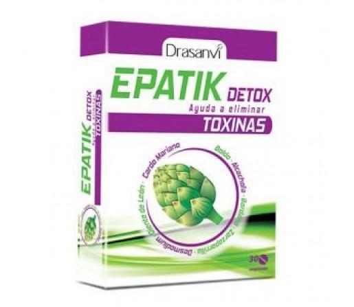 Epatik, Boldo, Alcachofa, Bardana, Desmodium, Cardo mariano... 30 comprimidos DRASANVI