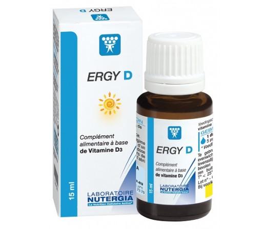 Ergy D Vitamina D3 Natural Sistema Inmune y Huesos 15ml. NUTERGIA