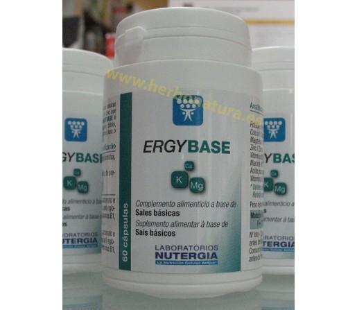 Ergybase Alcalinizante Sales Básicas y Zinc 60 cápsulas NUTERGIA