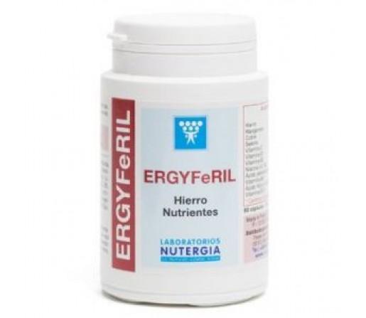 Ergyferil Hierro, Vitaminas, Minerales, Cebada, Alfalfa y Maca 60 cápsulas NUTERGIA