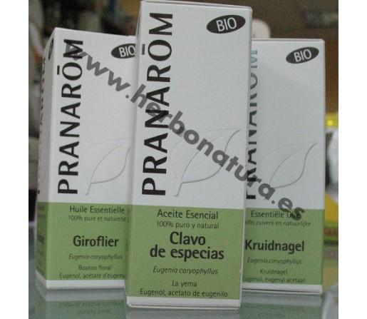 Aceite Esencial Clavo de Especias Ecológico (Eugenia caryophyllus) 10ml. PRANAROM