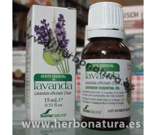 Aceite Esencial Lavanda (lavandula officinalis) 15ml. SORIA NATURAL