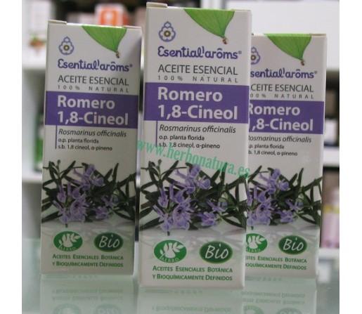 Aceite esencial Romero 1,8- Cineol BIO (Rosmarinus officinalis qt. cineol) 10ml. ESENTIAL AROMS