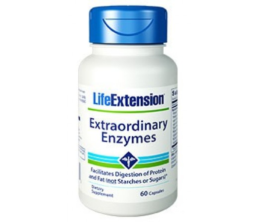 Extraordinary Enzymes, Enzimas 60 cápsulas LIFEEXTENSION