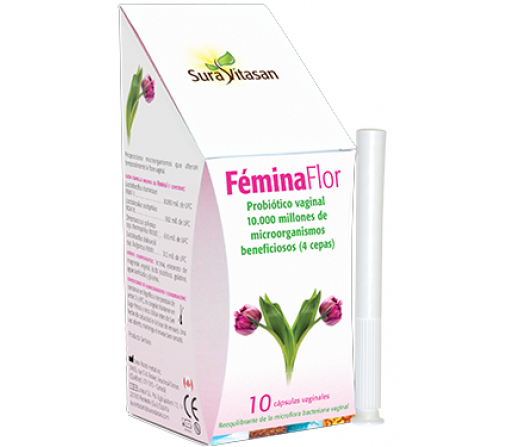 Fémina Flor, Probiotico Vaginal 10 óvulos vaginales SURA VITASAN