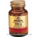 Folacín Acido Fólico 400 μg 100 Comprimidos SOLGAR en Herbonatura.es