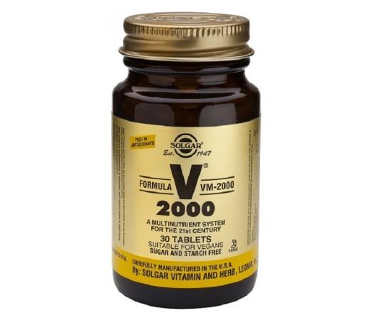 Fórmula VM 2000 Multinutriente con Aminoácidos en una base herbaria 60 comprimidos SOLGAR