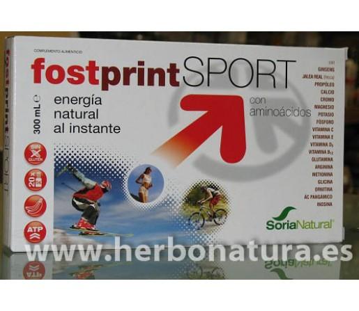 Fostprint Sport con aminoácidos 20 ampollas. SORIA NATURAL