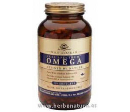 Full Spectrum™ Omega Aceite de Salmón y Vitamina D3 120 cápsulas blandas SOLGAR