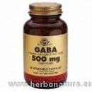 GABA 500 mg Ácido gamma aminobutírico 50 Cápsulas vegetales SOLGAR en Herbonatura.es