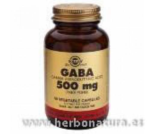 GABA 500 mg Ácido gamma aminobutírico 50 Cápsulas vegetales SOLGAR