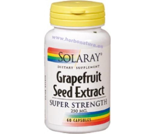 Grapefruit Seed Extract, Extracto de Semillas de Pomelo 60 cápsulas SOLARAY