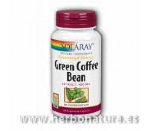 Green Coffee Bean, Café Verde 60 cápsulas SOLARAY