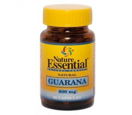 Guarana, Paullinia cupana 600mg. 50 cápsulas vegetales NATURE ESSENTIAL