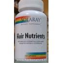 Hair Nutrients, Nutrición capilar. 120 cápsulas SOLARAY en Herbonatura.es