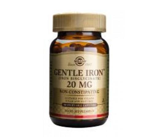 Hierro Gentle Iron Bisglicinato 20mg. 90 cápsulas vegetales SOLGAR