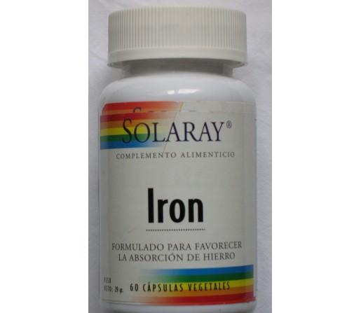 Hierro Iron (citrato de Hierro) 60 cápsulas vegetales SOLARAY